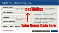 How to enter your PartyCasino Bonus code