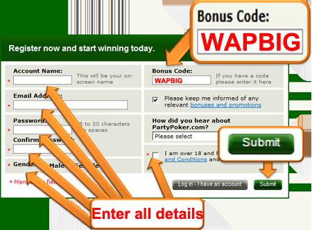 Dbg poker bonus code