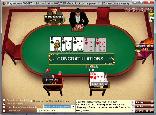 party poker play online no download