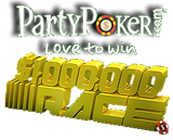 party poker million dollar race