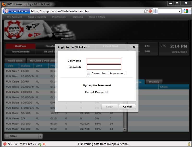 Free Online Poker No Download No Registration
