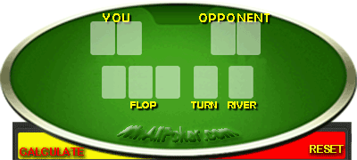 Poker Odds Calculator - work out your chance of winning a texas holdem hand.