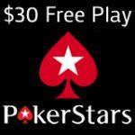 PokerStars Gratis $30 Bonus di Deposito