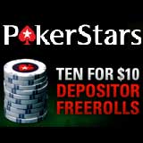 pokerstars freeroll poker stars