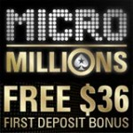 PokerStars MicroMillions Codice Bonus - $36 libero
