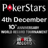 pokerstars Guinness World Record più grande torneo di poker online