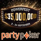 Powerfest Serie di Campionati Settembre 2017 Party Poker