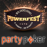 PartyPoker Powerfest 2016 Turneringsplan