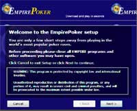 setup empire poker