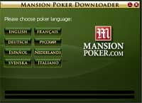 MansionPoker setup select language