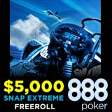 888 Poker Snap Extreme Freeroll Turneringer