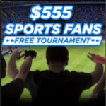 $555 Sports Fans Free Tournament - 888 Poker