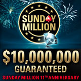 Sunday Million 11 årsdagen Turnering