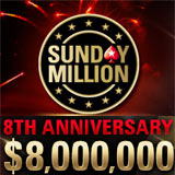sunday million 8th anniversary