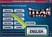 Step 5 - Select language to install Titanpoker