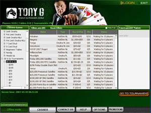 TonyG Poker bonus code