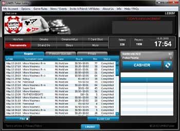 U Win Poker-Lobby