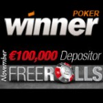 Winner Poker Freeroll Turneringsserien €100K