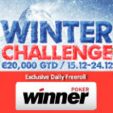 winner poker winter challenges
