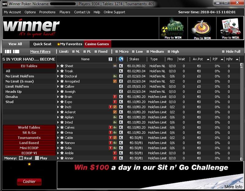 Winner poker bonus code 10 free