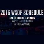 WSOP Calendário 2016