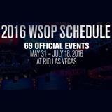 WSOP tidsplan 2016